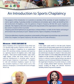 An Introduction to Sports Chaplaincy